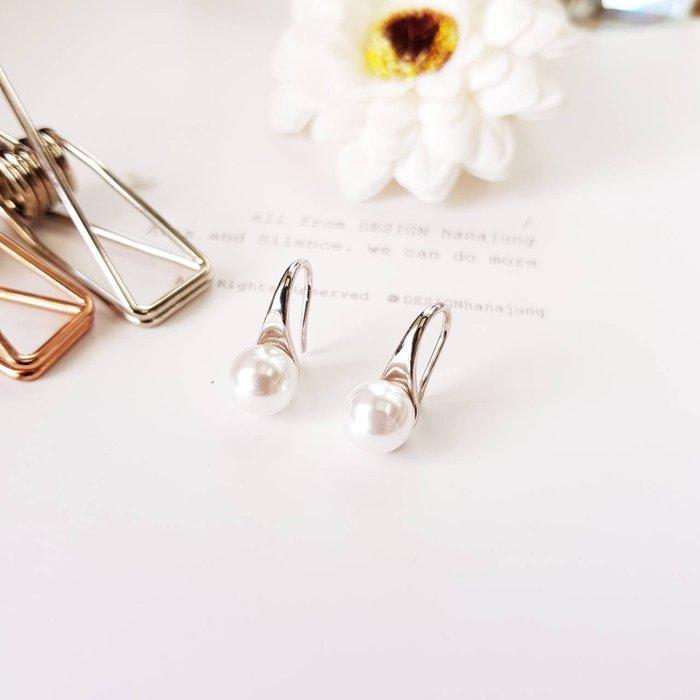 { 阿緹斯 }♕A101-172批發價 單支價44元♛ 氣質珍珠銀白K 耳環