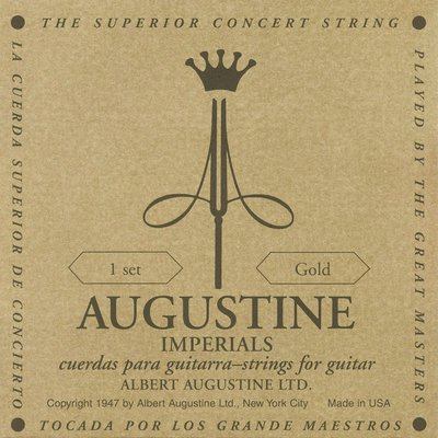 AUGUSTINE Imperials Gold 奧古斯丁 銅鍍金 古典吉他弦 帝王金 高音高張 低音低張【黃石樂器】