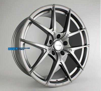 FLOW FORMING旋壓輕量化 FTS名牌 GT10 19吋鋁圈 5X112/120適用 8.5J+9.5J  鈦灰