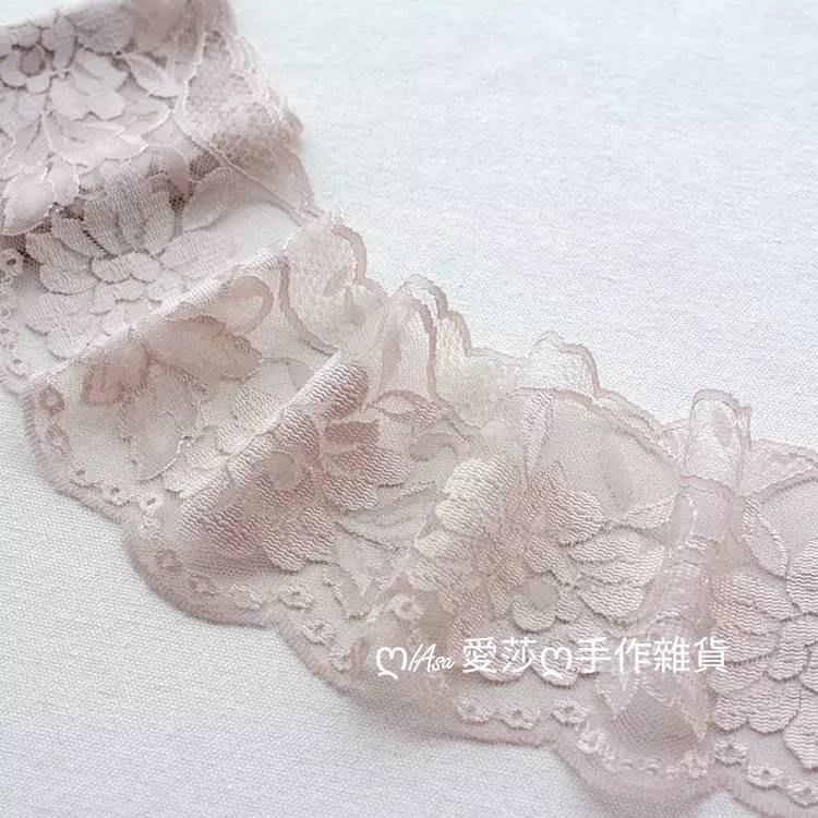 『ღIAsa 愛莎ღ手作雜貨』日本三款精美花朵滌綸蕾絲刺繡花邊DIY娃娃衣禮服裝飾輔料