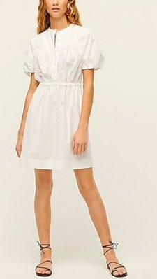 J. Crew Puff-sleeve cotton poplin shirtdress 10/12止