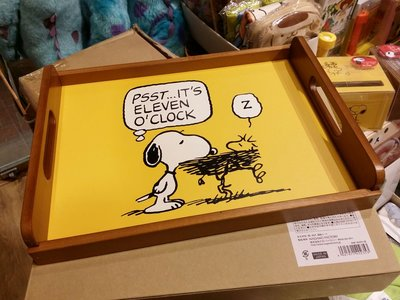 原裝 日本 Peanuts Snoopy 史路比 超靚 木製 托盤 餐盤 Tray 日本製 Size 23 x 30cm