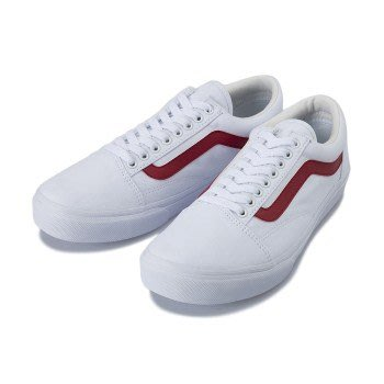 【Luxury】現貨 VANS OKD SKOOL DX V36CL CVS 17FA  白底紅線 男女鞋 皮質帆布