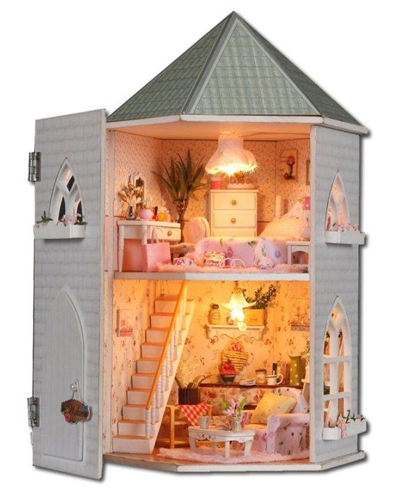 手巧家 DIY袖珍屋_愛情城堡 娃娃手做玩具迷你手工動手做模型創意禮物節慶女友情人節生日禮物浪漫小物