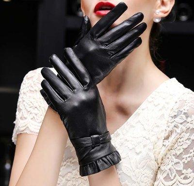 【小p包鋪】真皮手套 冬季羊皮手套 韓版加厚加絨騎行皮手套 薄款海寧