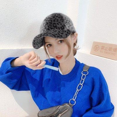 帽子女韓版性感豹紋棒球帽復古個性鴨舌帽百搭加厚保暖學生帽Y-優思思