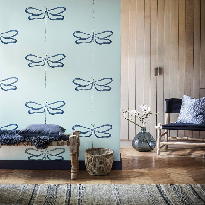 【Uluru】英國期貨壁紙.北歐簡約 DRAGONFLY (4色) 蜻蜓 昆蟲 壁紙 ES109系列