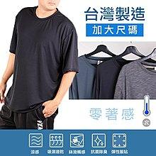 【台灣製造 2件398元】加大尺碼 吸濕排汗 涼感透氣 速乾 短袖T恤 五色 9974