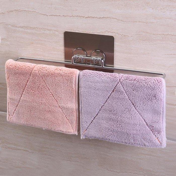 衛生間毛巾架浴室門后毛巾架子廁所毛巾掛架免打孔掛毛巾架抹布架