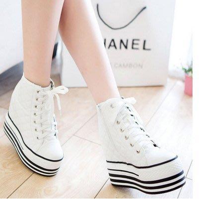 =WHITY=韓國GRAMMI品牌 韓國製  歐美明星鍾愛推薦高厚底坡跟 美腿白皙內增高鞋S6DR873
