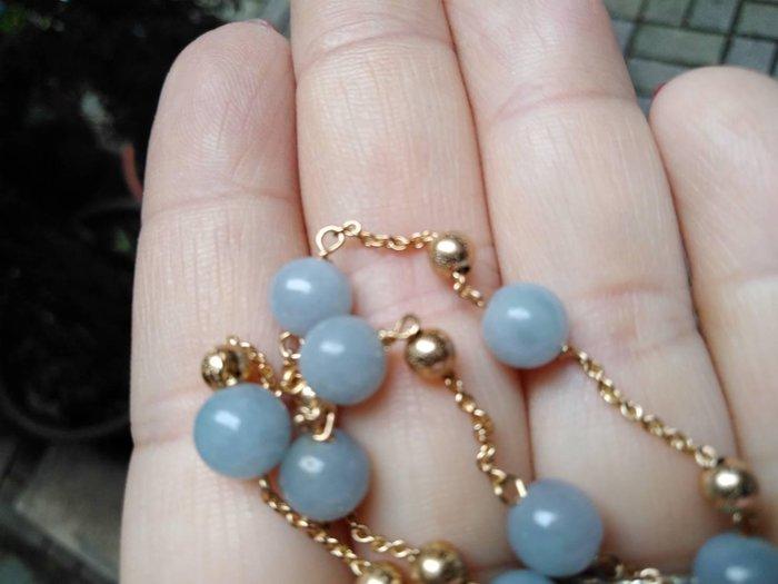 天然緬甸玉 A貨 紫珠 雙層 手鍊