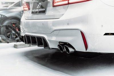 【台中政銓】BMW G30 MTECH F90 M5 適用 FD 高品質 乾碳 雙面卡夢 後下巴 免費安裝