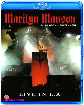 高清藍光碟 Marilyn Manson Guns God & Government Live In L.A (藍光BD25G)