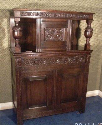 疫情特價(布諾西洋古董) 英國橡木餐具櫃  自取價
