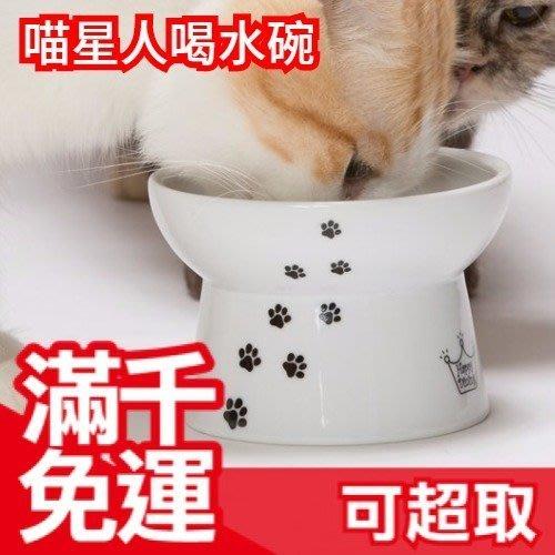 日本 貓咪喝水碗一般款 猫壱 貓壹 白瓷碗 小型犬貓高度 飯碗 飼料碗 喝水碗 可微波 毛小孩❤JP Plus+
