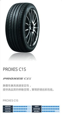 超級輪胎王~全新日本東洋~TOYO~C1S~255/ 35/ 18~安靜.耐磨胎 [直購價6200][日本製] 新北市