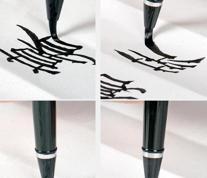 宇陞精品-H065-鋼筆式毛筆可加墨軟頭書法筆小楷便攜抄經簽字筆自來水軟筆-缺貨