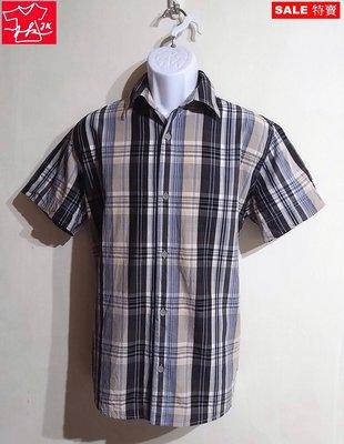 歐系品牌 Mexx 襯衫 格紋 短袖-男款-深藍米-S【JK嚴選】LV 鬼怪