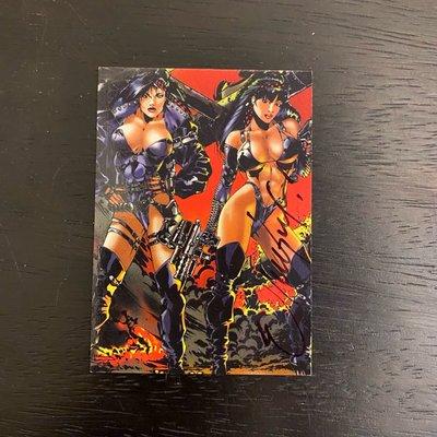 Double Impact 1996 High Impact comics Ricky Carralero 親筆簽名 卡片 #A2