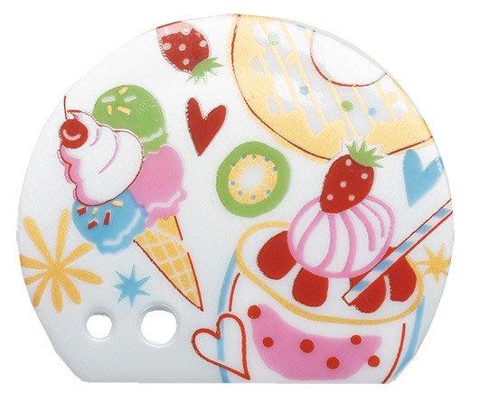 ◇FollowV◇日本京都香老舖松榮堂《現貨》草莓奇異果 冰淇淋聖代 現代藝術 筆架 筷架 大小兩孔香立