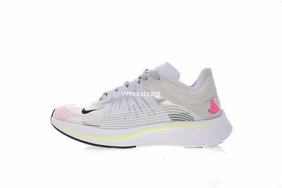 Nike Lab Zoom Fly Sp  休閒運動 慢跑鞋  透明網 七彩 Aa3172-106 男女鞋