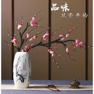 2019陶瓷花瓶仿古新中式插花家居客廳博古架瓷器裝飾品--新款