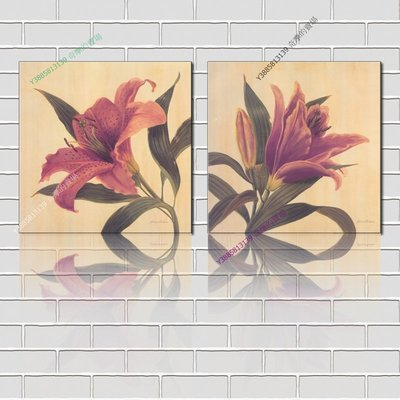 【60*60cm】【厚0.9cm】印象花卉-無框畫裝飾畫版畫客廳簡約家居餐廳臥室牆壁【280101_177】(1套價格)