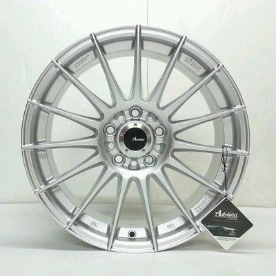 CR輪業 全新 雅泛迪 ADVANTI MAT12 17吋 旋壓輕量化鋁圈 高亮銀 5/114 8J ET40