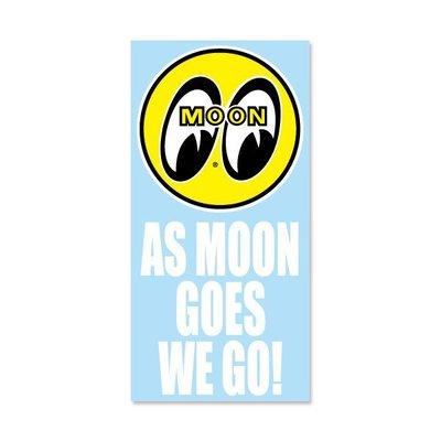 (I LOVE樂多)As MOON Goes We Go 月亮推移 轉印貼紙 可貼於汽機單車安全帽