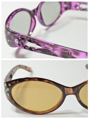 吉田眼鏡×偏光變色太陽眼鏡 水鑽墨鏡 小框 圓膠框墨鏡 耐壓 非全視線 變色片 騎車開車 白內障開刀 必備