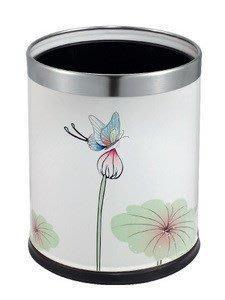 【CG7-10】SK-511雙層鋼板紙屑桶/垃圾桶(古典印花)
