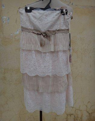 jacob00765100 ~ 全新 正品 義大利名牌 Blumarine blugirl 蕾絲 蠶絲 平口小禮服/洋裝