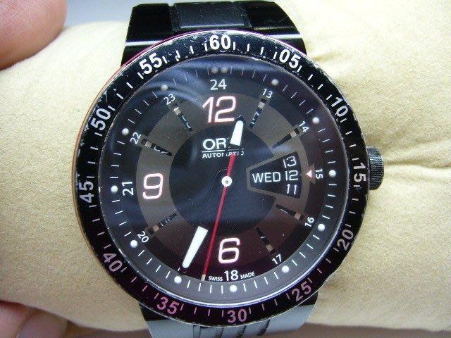 [吉宏精品交流中心]ORIS 豪利時 F1 陶瓷圈 橡膠 自動機械 運動表 男錶(1)