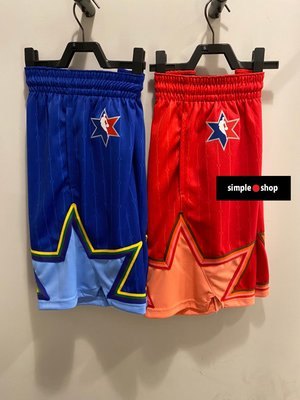 【Simple Shop】NIKE JORDAN NBA 明星賽 籃球褲 球褲 藍 紅 CJ1067-495 657