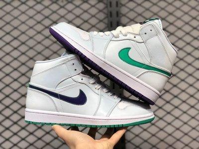 "AIR JORDAN 1 MID ""MINDFULNESS"" LUKA 白綠紫 男女籃球鞋CW5853-100"