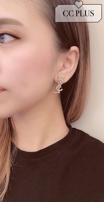 CCPlus韓國代購~真的好美的logo耳環