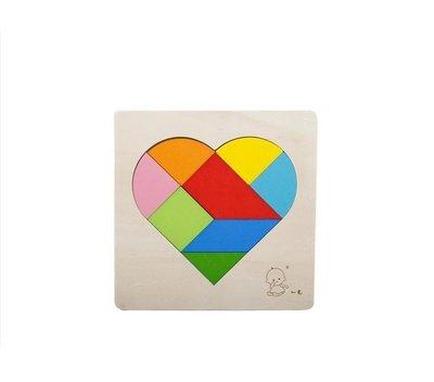 心形拼圖88種玩法 益智拼圖 立體拼圖 木質玩具 積木 七巧板 益智遊戲 邏輯推理 樂高積木 啟蒙早教