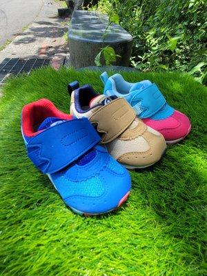 *十隻爪子童鞋*日本Moonstar月星機能童鞋HI系列2E寬楦粉藍or寶藍or卡其學步鞋  男女寶寶皆可呦