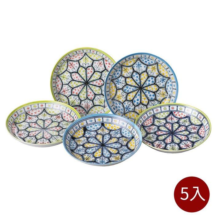 【日本bloom-plus】美濃燒 馬拉喀什民族風餐盤-5入組