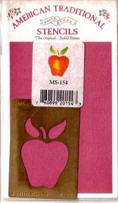 陽光一品DIY卡片印章專賣店~~ 銅片特賣--蘋果--##MS-154##~~美國製絕版品