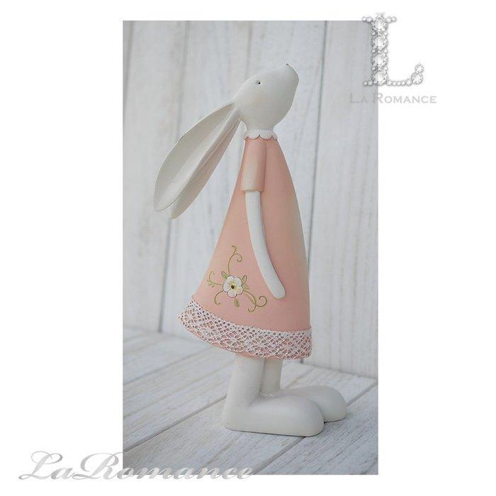 【荷蘭 Clayre & Eef 特惠系列】 粉色兔子擺飾 (大) / 動物 / 鄉村風 / 童趣