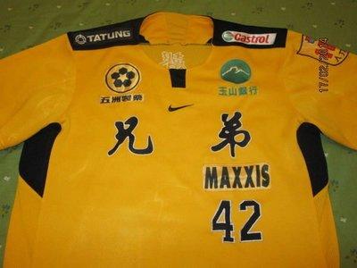 兄弟象隊教練吳聲武實戰球衣一件~NIKE製,非經典賽、中華隊、亞洲職棒大賽、初登版
