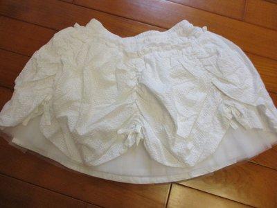 全新童裝出清--☆WHY AND 1/2 ☆白色花苞澎裙--11號