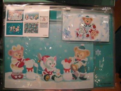 ***日本帶回***東京海洋迪士尼達菲DUFFY雪麗梅SHELLIEMAY和GELATONI聖誕夾鏈袋3件組 ♪☆♪
