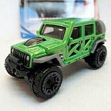 中古Hotwheels Diecast 1:64 Jeep Wrangler 4X4【Green one】