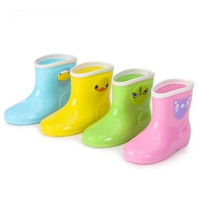 春夏時尚寶寶水靴膠鞋萌物雨靴男女童小孩水鞋防滑可愛兒童雨鞋XBD