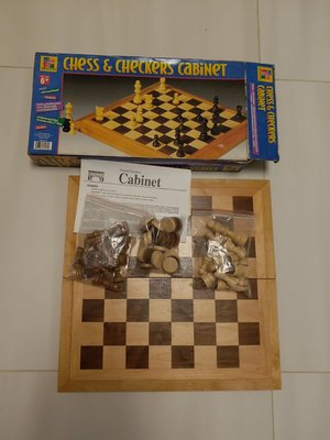 Pavilion chess & checkers cabinet