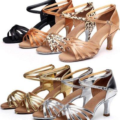 5Cgo【鴿樓】含稅 6869495712拉丁舞鞋女士中跟舞蹈鞋軟底廣場舞交誼舞拉丁國標舞鞋5cm 7cm高 -室內毛底