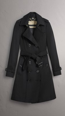 Burberry sadringham fit cashmere trench coat