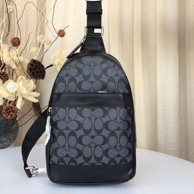 妮妮歐美精品代購 全新COACH 54787 美國正品代購最新款男胸包 前胸包 後胸包 背包 超低直購